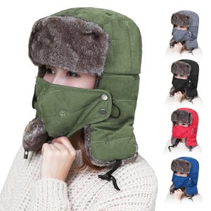 Men Women Winter Thermal Hat Cycling Riding Skiing Neck Warmer Hats Waterproof Windproof Hat with Earflaps Face Mask