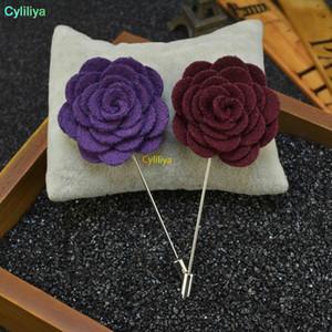 الرجال النساء 3D روز زهرة بروش لالدعاوى معطف الشتاء الياقة للحصول على حفل زفاف Faovr هدية مجوهرات الديكور