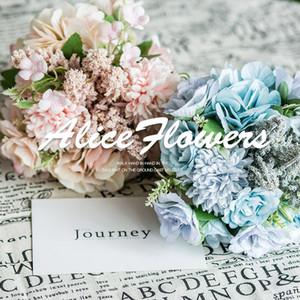 Ins rose wedding Flowers holding bouquet wedding photography props handwritten flower art home decoration simulated silk flower