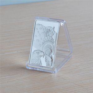 10pcs / lot États-Unis d'Eagle Liberté 1OZ 0,999 plaqué argent collectables Bar Lingot USA
