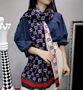 2020 Spring and summer silk scarves blended with cashmere, double-faced and two-color fashion scarves for men and women