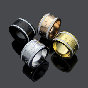 Lovers Rings 18K Rose Gold and silver 316L Stainless Steel for women and man band rhombus Rings Jewelry