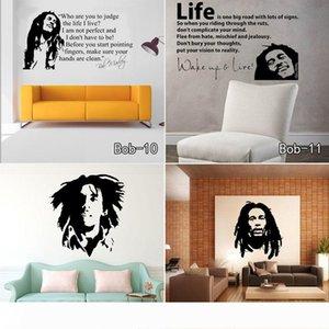 Bob Marley Quotes Autocollants muraux Stickers vinyle Citations Poster Papier peint Stickers muraux Décoration Livraison gratuite