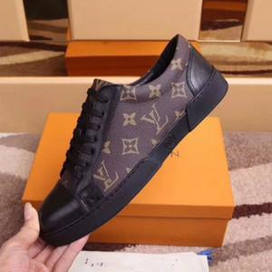 Luxus Die neuen Qualitätsmarken Männer Casual Low-Help-Schuhe und klassische Schnürschuhe entwerfen zwei Arten, einen warmen und bequemen Knöchel