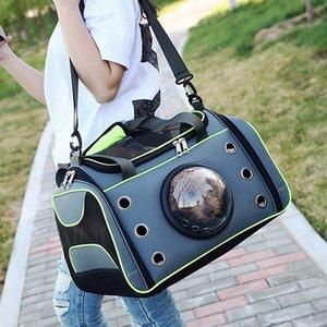 Comfortable Outdoor Pet Dog Carrier Bag Pet Dog Front Bag New Out Double Shoulder Portable Travel Backpack Mesh Backpack Head