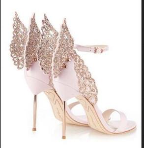 Sophia Webster Sandalen echtes Leder Pumpen Schmetterlings-Absatz-Sandelholz für Frauen Sexy Stilett-Schuhe