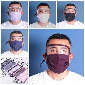 yuvası insanlar koruyucu güvenlik ağız maskeleri dhl ile göz Shield yıkanabilir 2 tabakaları pamuk yüz maskesiyle birlikte yeni tasarım Yüz maskesi