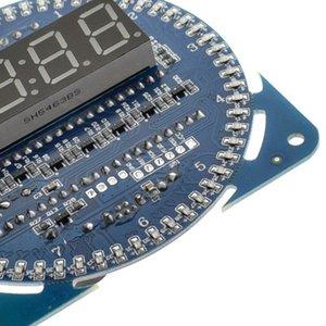 1 Adet LED Elektronik Dijital Saat modülü DS1302 Rotasyon LED Ekran 51 SCM Öğrenme Kurulu Diğer Saatler Aksesuarlar