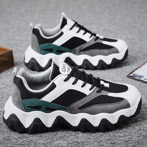 Baba Erkekler Shoes2020 Moda Batı Mesh Işık Nefes Erkekler Rasgele Ayakkabı Erkek Sneakers Zapatos Hombre Düz Vulkanize Siyah Ayakkabı Boy