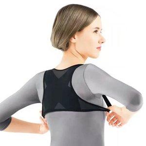 Correttore di posizione supporto posteriore Postura masturbarsi Supporto Corrector indietro corsetto spalle il dolore del gancio della cinghia di correzione ortesi