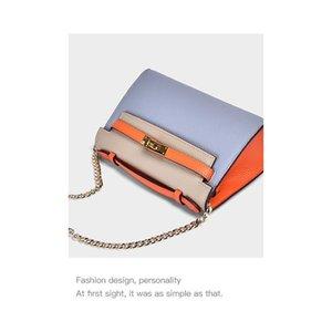 Charm2019 Leder Genuine Litschi-Korn Rechtschreibung Farbe Kleine Kylie Paket Kette Tasche Frau Rindleder-einzelne Schulter-Schul Tide