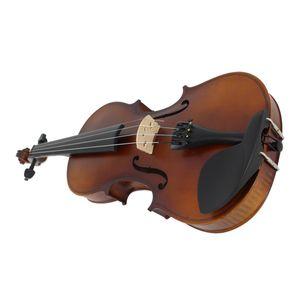 Dropship-Matt-Finish aus massivem Holz Violine Craft Streifen Violino für Kinder, Schüler Anfänger Fall Mute Bow Strings
