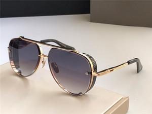 Nuevas gafas de sol populares TOP Edición limitada en el diseño de ocho hombres K pilotos retro de oro de calidad superior de la lente de corte de cristal del marco