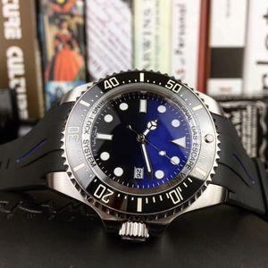 43mm Reloj de zafiro Bisel de cerámica Serie DWELLER Reloj deportivo de acero inoxidable 316L 126600-LN Movimiento automático Banda de goma