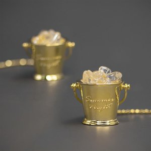 Original Design 925 Sterling Silver White Crystal Women's Earrings Fine Jewelry Natural Stone Bucket Earrings Party Summer