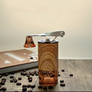 Wood Grain Portable Coffee Grinder Removable and Washable Hand Grinder Household Outdoor Manual Coffee Machine