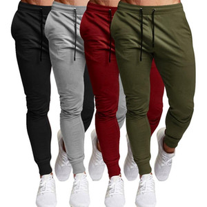 Men Sport Leisure Trousers Solid Color Versatile Running Training Fitness Pants Lace Up Solid Versatile Fitness Pants