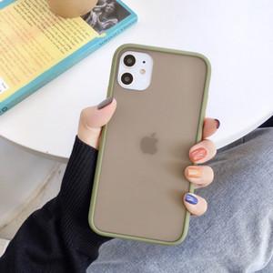 2019 Amazon Best Selling mobile Accessori sensibilità della pelle di caso per la copertura del PC iphone11 texture opaca del telefono + TPU glassata della cassa del telefono 10 colori
