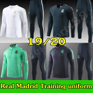 Yeni 19 20 Real Madrid Eğitim Suit Futbol Formalar TEHLİKESİ SERGIIO RAMOS Kroos Erkek Eşofman Takımı Futbol Gömlek uzun kollu Üniformalar