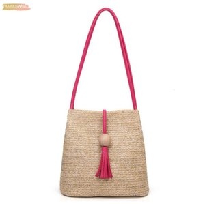 Fashion Womens Straw Bag Casual Shoulder Bag Boho Women Messenger Bags Crossbody Bag Band Woven Buckle