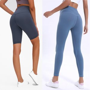 Lu-WK20-2 High Taille Yoga Hose Knöchel Gym Leggings Sport Frauen Fitness Training Strumpfhose Mit Hidden Pocket Workout Yoga Sport Leggings