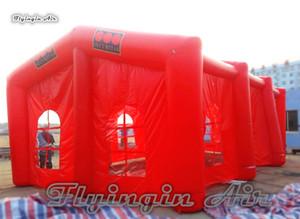 الإعلان في الهواء الطلق نفخ المعرض التجاري خيمة 10M طول Airblown سرادق خيمة هيكل الإطار الكبير للحزب والزفاف