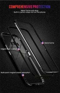 Samsung note8 / 9 s8 / 9 artı s10 S10E Adsorpsiyon temperli cam Arka Panel Kapak Cep Telefonu Kılıfları için Manyetik telefon kılıfı DHL