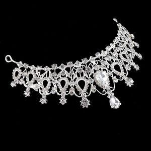 Ювелирное 1Pcs Делюкс Tiara Корона волос женщин головной убор Свадебные Пром Корона Подарки для друзей Размер: 15 * 6,1 см