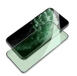 Защита глаз зеленый свет 9H полный клей полное покрытие закаленное стекло для iPhone X XS 11 Pro Max XR 7 8 Plus