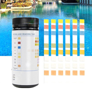 100 Pcs Water Hardness Acid Accessories Swimming Pool Tool Spa Bromine 10 In 1 Alkalinity PH Test Strips Quick Results