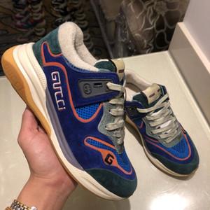2020sneakers com cristal da Ginnastica Platform placa- sapatos gg robusto salto sneakers plataforma plataforma chaussures de l meia size35-45