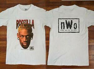90 Vintage Rodzilla T-shirt Dennis Rodman nWo 1998