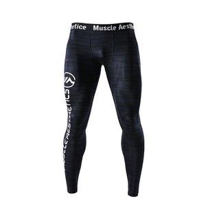 Hombres Running Leggings ajustados Compresión Dry Cool Sports Medias Pantalones Jogger Yoga Leggings deportivos Pantalones
