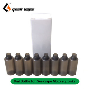 Original 8pcs lot Geekvape Gbox 8ml e-liquid Spare bottles for Gbox 200w mod Radar RDA kit squonk replacement food grade PET soft bottle
