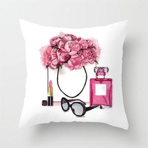 45 * 45cm casa Divano Getta federa Pure il colore del cuscino in poliestere bianco o un'immagine della copertura della cassa del cuscino Decor Bianco Decor regalo di Natale