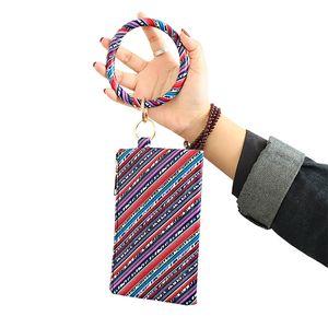 Bracelete PU Porta-Chaves couro Porta-Chaves de couro bracelete leopardo impressão bracelete pingente saco senhoras bolsa 13 styles t3i5627