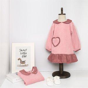 Tonytaobaby otoño vestido de la princesa dulce del partido del vestido de las muchachas Nuevos niños del estilo de Lolita Puff manga