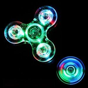 Flash Fidget Spinner doigt ABS Spinner bonbons colorés mains Tri pour les enfants autistes anxiété Stress Relief Jouets cadeau