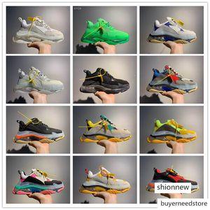2019 Paris Tripe-S 17FW Designers Shoes Women Men Luxury Casual Dad Shoes Tripe White Black Pink Men Women Sports Trainer Sneakers EUR 36-45