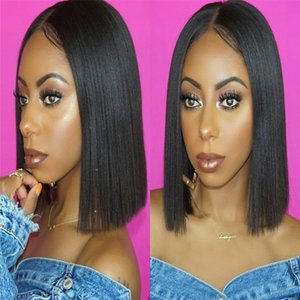 Silky Straight Good Quality Brazilian Full Lace Human Hair Wigs With Baby Hair Remy Hair Pre Plucked Glueless Lace Wig For Black Women