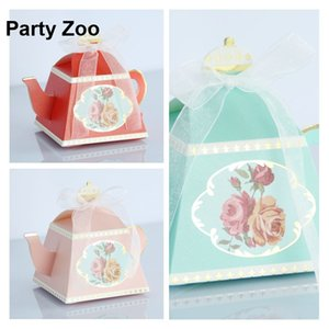 500 X Europe Royal Flower Whimsy pot Favor Boxes Bridal Shower Party Sweets Box Assorted Color