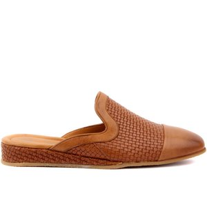 Sail Lakers-Tan Leather Mesh Reinforcement Male Outdoor Slipper