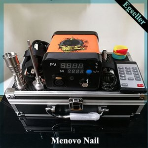 Menovo elettrico Titainium Dab Nails Penna Oil Rig Cera tamponando PID TC Box Con Domeless Coil Heaer Dnail Pad Kit silicone 0268110