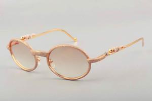19 nueva fábrica de espejos de metal de leopardo de diamantes nuevos directos también gafas de sol de alta calidad T7550178 diamante fotograma completo tamaño de la bolsa 55 -22-140MM