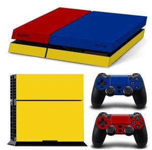 Para PS4 pele Vinyl Decal Adesivo para Playstation 4 Console + 2 Pcs Controller Gamepad etiquetas dos desenhos animados camo ouro