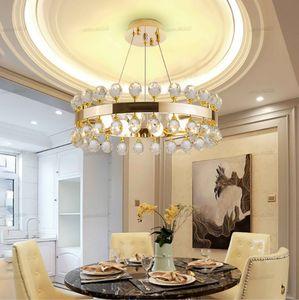Modern chandeliers lustre cristal warm romantic bedroom led avize iluminaria crown crystal chandelier lighting kitchen lamps LLFA