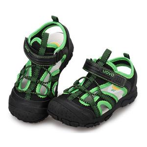 Мальчики Пляж обувь Uovo Марка закрыты носок малышей Детские или лета малышей сандалии Классические Открытый скольжению Спортивные сандалии 25-35