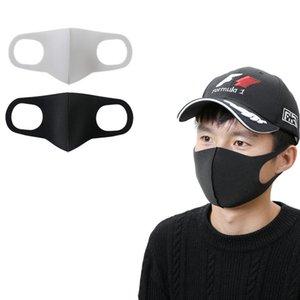 Maschera Nera spugna antipolvere maschere Lavabile bocca età Donne Uomini riutilizzabile maschera protettiva Moda Shield