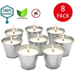 8Pcs Set Soy Wax Fragrance Candles Set Smokeless Mosquito Repellent Candle for Home Wedding Birthday Decoration Y200531