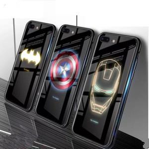 Iphone11 Lumière téléphone mobile Shell d'Apple Xr / xsmax verre lumineux Trempé couverture Shell Téléphone Housse de protection